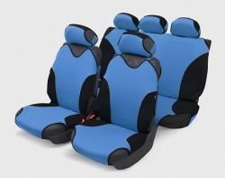 Чехлы автомобильные на сиденье Майка TURBO Полный светло-синий  00080
