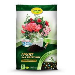 Грунт Цветочное счастье для цветущих Фаско 5л