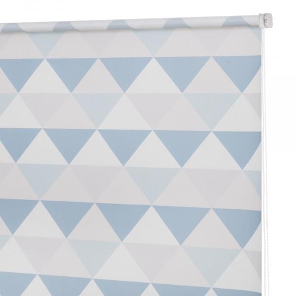 штора рулонная мини треугольники 120*160см бирюзовый