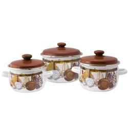 Набор посуды эмалированной 3 пр. idilia  Хозяюшка
