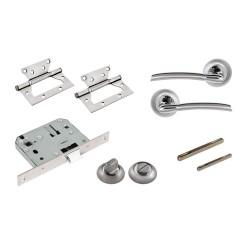 Комплект для двери Фабрика замков  FZ SET 01-C 170 2H BK SN(матовый никель)