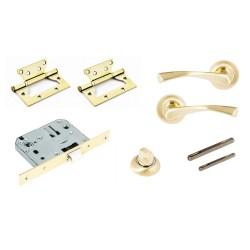 Комплект для двери Фабрика замков  FZ SET 03-C 170 2H BK SG(матовое золото)
