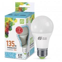 Лампа светодиодная ASD LED-A60-standard 15Вт 230В Е27 3000К 1350Лм