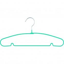 Вешалка для легкой одежды Elfe с прорезиненным противоскользящим покрытием 40 см, бирюзовая 92928