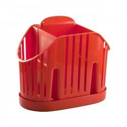 Сушилка для столовых приборов приборов 3-х секционная, красный