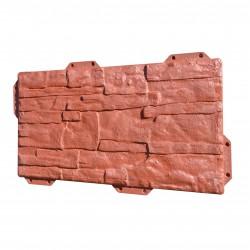 Панель фасадная Hardplast 440*220мм, сланец красный