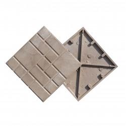Плитка тротуарная Strong Дачная цвет серый, 330 х 330 мм