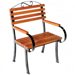 Кресло Романтика дерево/металл