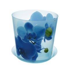 Горшок для орхидей ДЕКО D160мм 2,4л с подставкой синяя