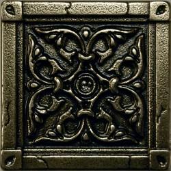 Вставка метал. BYZANTIUM 5.0х5.0 Bronze