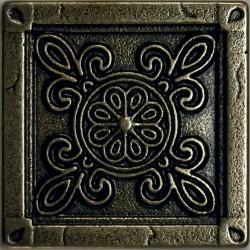 Вставка метал. CAMOMILE 5.0х5.0 Bronze