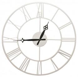 Часы настенные Artlink White Metal Clock 40x40см 79805