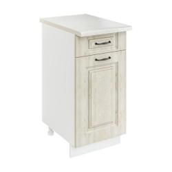 Шкаф-стол рабочий с 1 ящиком 1С400Я1 Женева (MBP 9187-3 Лиственница приморская)