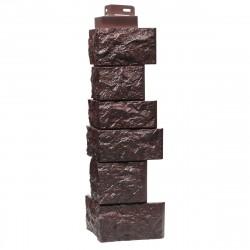 Угол наружный к фасадной панели FineBer 0,47м Камень дикий коричневый