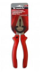 Плоскогубцы 180мм шлиф. с красными эрг. ручками Matrix 16970