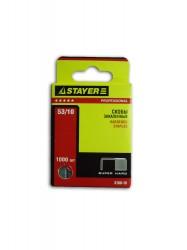 Скобы для степлера 10мм тип 53 закаленные 1000шт STAYER 3160-10