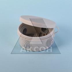 Коробка разветвит. ОП/IP55 круглая с крышкой 400В 4 вывода 80*40мм инд. уп. КР2602и HEGEL