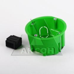 Коробка установочная 400В полые стены металлические лапки 68*45мм инд уп КУ1202и HEGEL