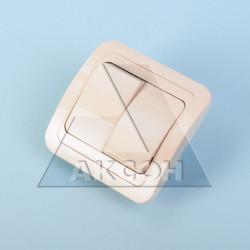 Выключатель 2кл MAKEL Mimoza крем/крем 25003