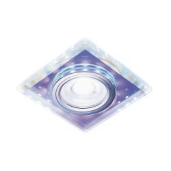 Светильник точечный Ambrella S291 BL MR16+3W LED COLD хрусталь/хром/голубой