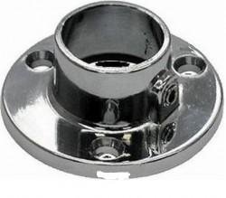 Держатель для трубы 25 мм с фиксатором, хром (2 шт)-пакет Tech-Krep