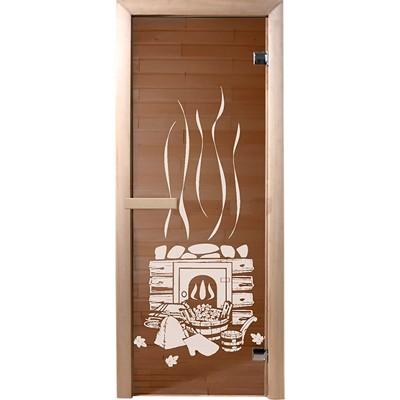 Фото - дверь из стекла банька1,9х0,7 м бронза 6мм, коробка хвоя,2 петли,в гофрокоробе банные штучки /1 дверь для сауны стеклянная doorwood dw01028 восточная арка прозрачная 800х2000 мм