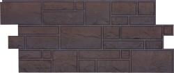 Панель фасадная 1,072*0,472м Docke Burg Тёмный