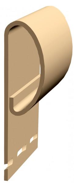 профиль финишный docke premium, цвет карамель, 3 м