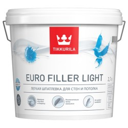 Шпаклёвка Tikkurila легкая EURO FILLER LIGHT KTA 9л