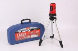 Уровень лазерный самовыравнивающийся в пласт.кейсе, 10м, точность +/- 0,5 мм/м, Matrix 35033