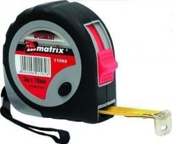 Рулетка 3м 16мм плавная фиксация обрезиненный корпус Matrix 31086