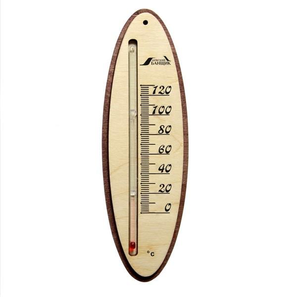 термометр д/бани жидкостный прямоугольный