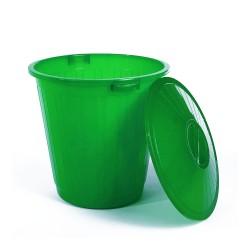 Бак пластиковый с крышкой зеленый 80л ЭП 097723