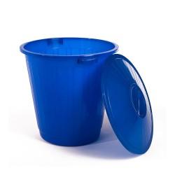 Бак пластиковый с крышкой синий 70л ЭП 097679
