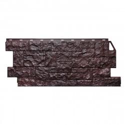 Фасадная панель FineBer, камень дикий, цвет коричневый, 1.137 х 0.47 м