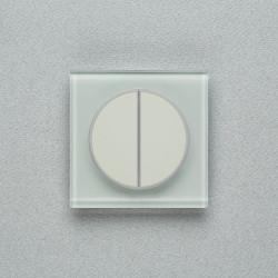 Выключатель клавишный серии TAKTO для управления двумя зонами освещения T.2.9010 мягкий белый