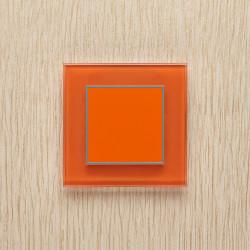 Выключатель клавишный серии ORTO для управления одной зоной освещ. O.1.2001 классический оранжевый