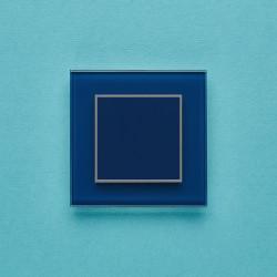 Выключатель клавишный серии ORTO для управления одной зоной освещения O.1.5001 голубое топливо