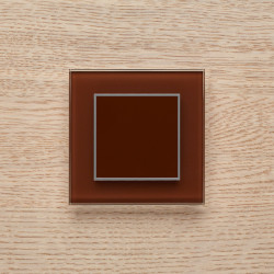 Выключатель клавишный серии ORTO для управления одной зоной освещения O.1.8017 темный коричневый