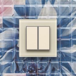 Выключатель клавишный серии ORTO для управления двумя зонами освещения O.2.1013 белый жемчуг