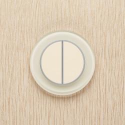 Выключатель клавишный серии RONDA для управления двумя зонами освещения R.2.1013 белый жемчуг