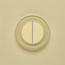 Выключатель клавишный серии RONDA для управления двумя зонами освещ. R.2.1014 классический бежевый