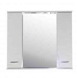 Зеркало-шкаф Альфа 87см с подсветкой