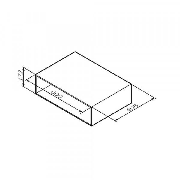 комплект мебели подвесной 60 см am pm gem open space белый