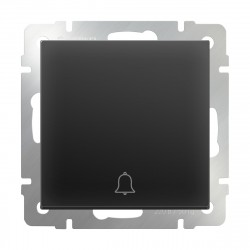Кнопка звонка черная матовая WL08-04-01