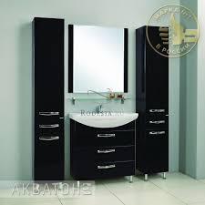 шкаф-пенал акватон ария тёмно-коричневый 1a134403aa430