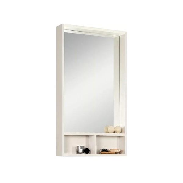 шкаф зеркальный акватон йорк 50 белый/выбеленное дерево 1a170002yoay0