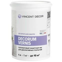 Лак защитный Декорум Вернис1,0л полуматовый