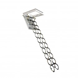 Лестница чердачная металлическая, Oman Nozycowe Lux, 70 x 120 x 300 см