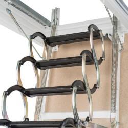 Лестница чердачная металлическая Oman Nozycowe раздвижная 70x70x300 см